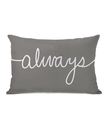 Gray 'Always' Mix & Match Throw Pillow