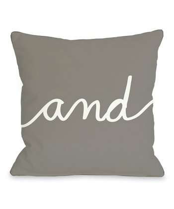 Gray 'And' Mix & Match Throw Pillow