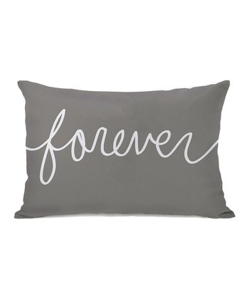 Gray 'Forever' Throw Pillow