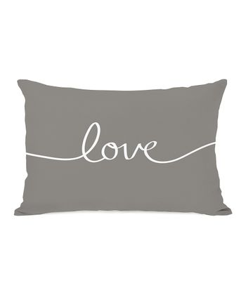 Gray 'Love' Mix & Match Throw Pillow