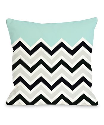 Light Blue Zigzag Square Pillow