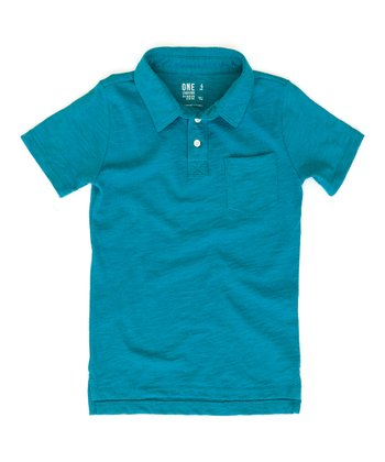Aqua Franklin Polo - Toddler & Boys