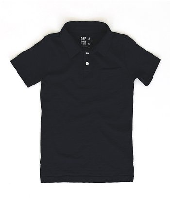 Black Franklin Polo - Toddler & Boys