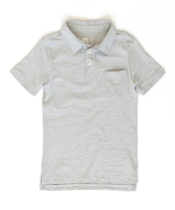 Gray Franklin Polo - Toddler & Boys