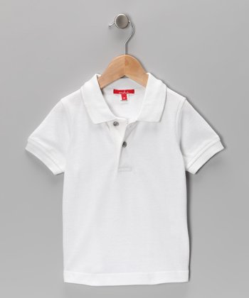 White Pique Polo - Toddler