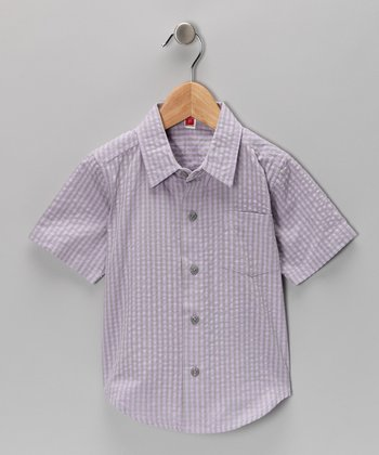 Purple Seersucker Button-Up Shirt - Toddler & Boys
