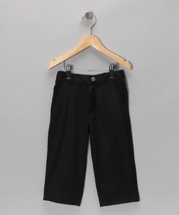 Black Twill Pants - Toddler & Boys
