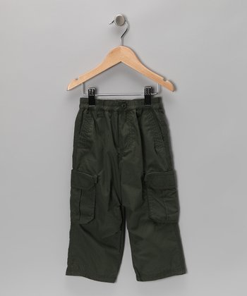 Olive Cargo Pants - Toddler & Boys