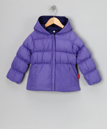 Posy & Plum Reversible Down Jacket - Toddler & Girls