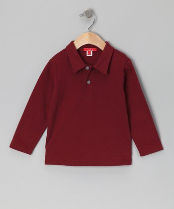 Brick Dressy Polo - Toddler & Boys