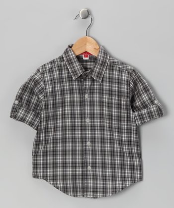 Pebble Plaid Button-Up - Toddler & Boys