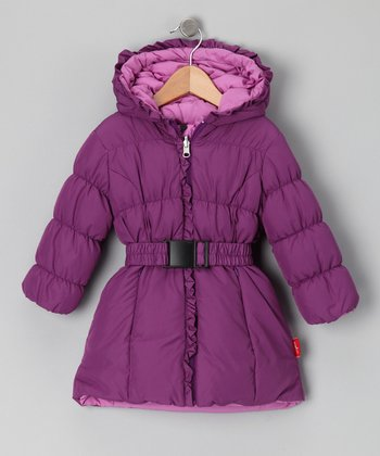Violet & Rose Reversible Down Puffer Coat - Toddler & Girls