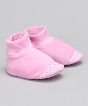 Light Pink Velour Slipper