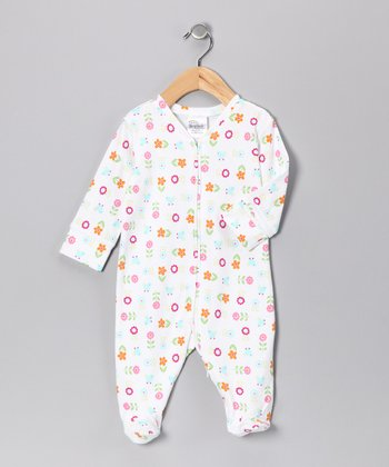 White Flower Halo Footie - Infant