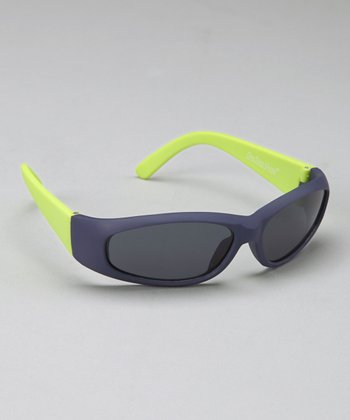 Blue Rubber Frame Sunglasses