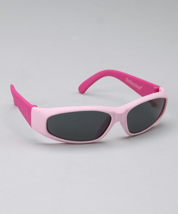 Pink Rubber Frame Sunglasses