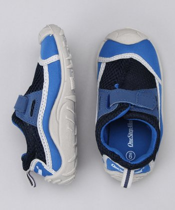 Blue Stay-Put Adjustable Swim Shoe