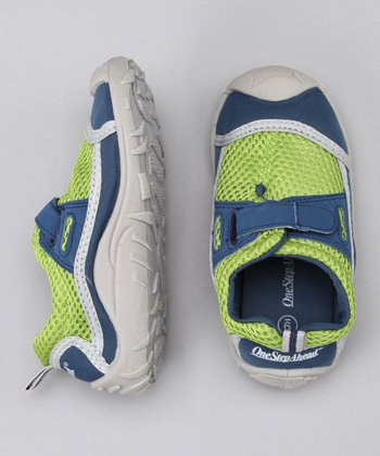 Navy Stay-Put Adjustable Swim Shoe