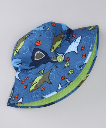 Green & Blue Reversible Sunhat