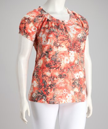 Orange U Glad Plus-Size Short-Sleeve Top