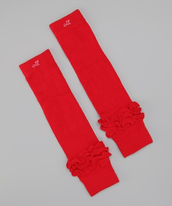 Radiant Red Leg Warmers - Toddler & Girls