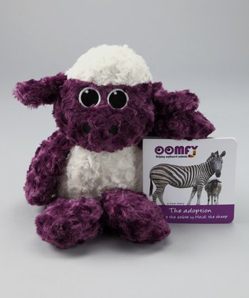 Purple Heidi the Sheep Plush Toy & Board Book