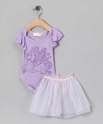 Purple Pegasus Amanda Bodysuit Set - Infant