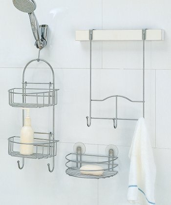 Silver Shower Caddy Set