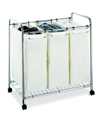 Chrome Three-Section Laundry Sorter
