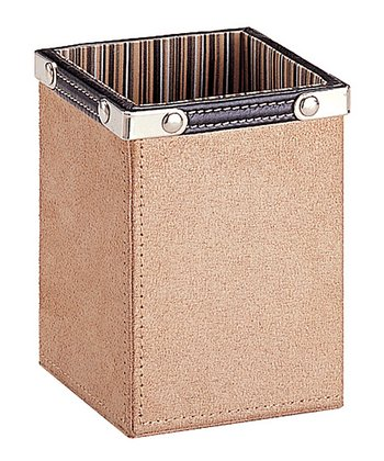 Organize It All Tan & Brown Writing Utensil Holder