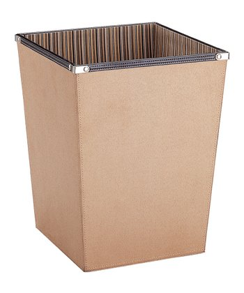 Organize It All Tan & Brown Wastebasket