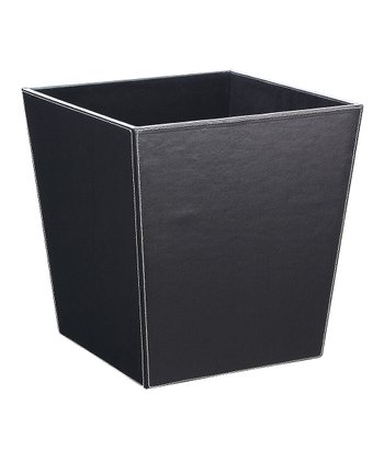 Organize It All Black Wastebasket