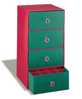 Red & Green Christmas Drawer Chest
