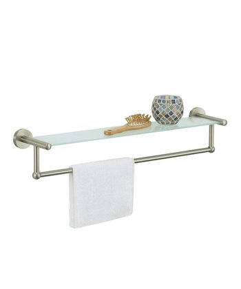 Satin Nickel Towel Bar Shelf