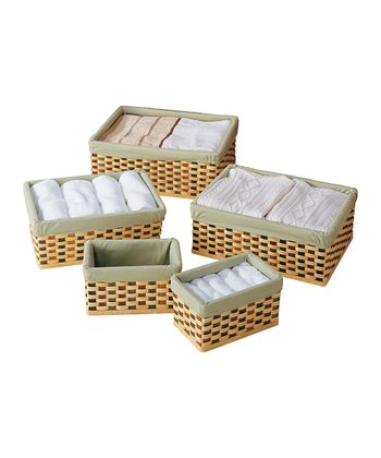 Checker Basket Set