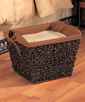 Dark Brown & Espresso Storage Basket