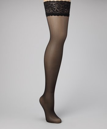 Black Effect Thigh-High Stockings