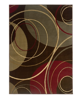Brown Swirl Elizabeth Rug