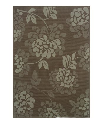 Gray & Beige Vines Fiji Indoor/Outdoor Rug