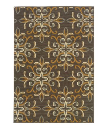 Gray & Beige Fiji Indoor/Outdoor Rug