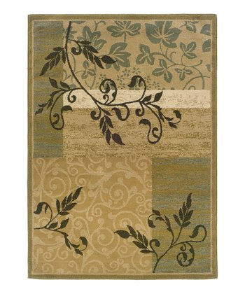 Gold Secret Garden Brayden Rug