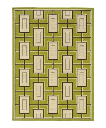 Green Modern Hyrcania Indoor/Outdoor Rug