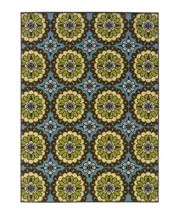 Blue Medallion Hyrcania Indoor/Outdoor Rug