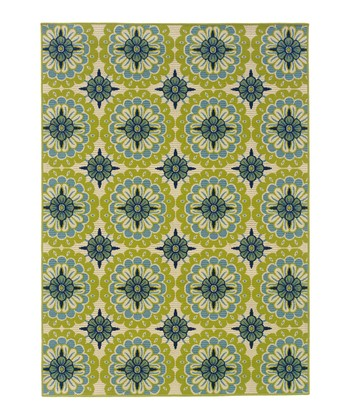 Green Medallion Hyrcania Indoor/Outdoor Rug