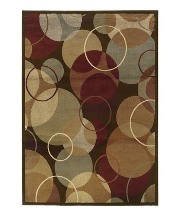Brown Circle Cynthia Rug
