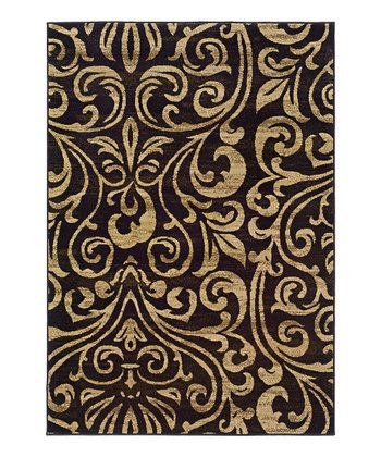 Brown Scroll Elliot Rug