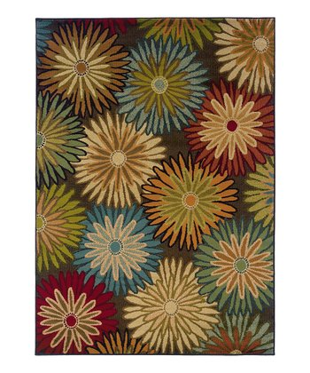Charcoal Flower Burst Elliot Rug