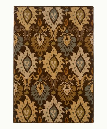 Brown & Blue Chandelier Wool-Blend Jefferson Rug