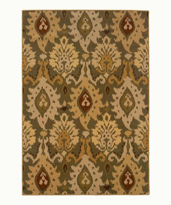 Green Chandelier Wool-Blend Jefferson Rug