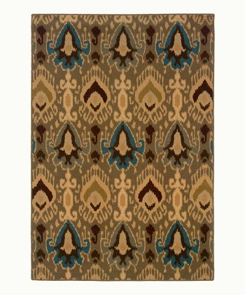 Blue Wool-Blend Jefferson Rug